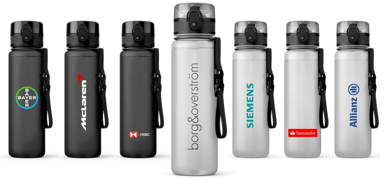 Incorporate your logo or your customers on this Branded Bottle