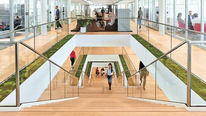 The Steelcase Linc staircase